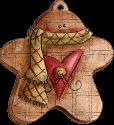 Ginger bread man half ate stuffed ornament