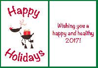 TIAZ: 1 Holiday Card + Flat Surprise-INTERNATIONAL