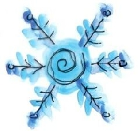 Watercolor ATC - Winter Theme
