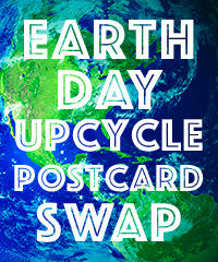 Earth Day Upcycle Postcard Swap